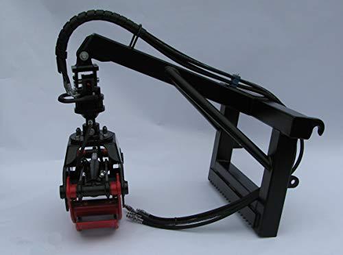 Joma-Tech Anbaurahmen mit Euro-Aufnahme inkl. Forstgreifer proLine aus Hardox Öffnungs. 1250mm Rotator Kardangelenk. (mit 4,5to. Flanschrotator & Umschaltventil)