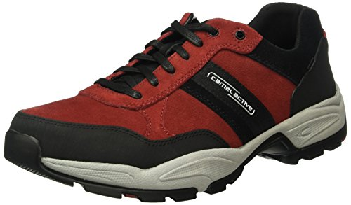 camel active Evolution 31, Scarpe Stringate Basse Oxford Uomo Rosso (wine/black 04)