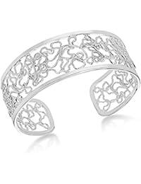 Tuscany Silver Fine Necklace Bracelet Anklet Argent 925/1000 Ronde 7 Centimeters