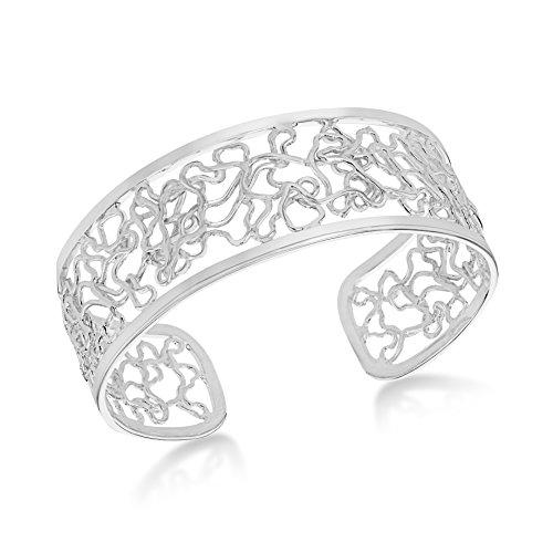 Tuscany Silver Armreif Sterling Silber Netz