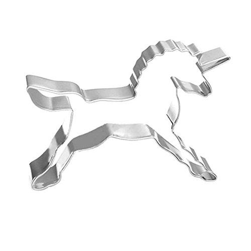 Cortador galletas acero inoxidable Leisial forma unicornio