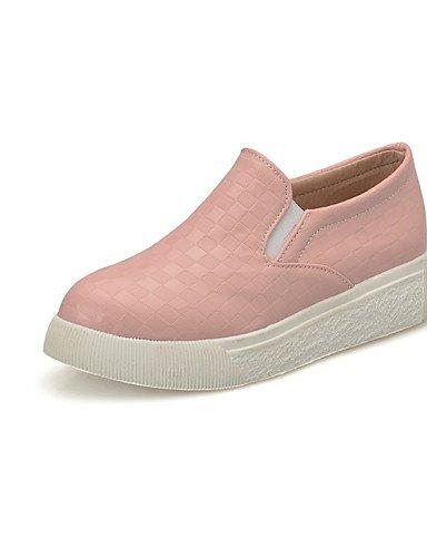 ZQ Scarpe Donna-Ballerine-Casual-Modelli-Piatto-PU-Rosa / Bianco / Tessuto almond , pink-us11 / eu43 / uk9 / cn44 , pink-us11 / eu43 / uk9 / cn44 white-us9.5-10 / eu41 / uk7.5-8 / cn42