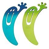 Lesezeichen JIMINI 2er-Set, transparent blau/grün