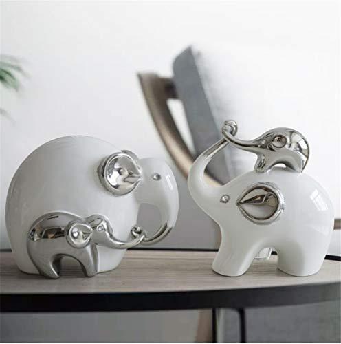 WDDqzf Skulptur Figur Dekoration Statuen Ornaments Statues Figurine Sculpture Auspicious Elephant Ornaments Animal Lucky Ceramics Creative Modern Porch Living Room Crafts Home