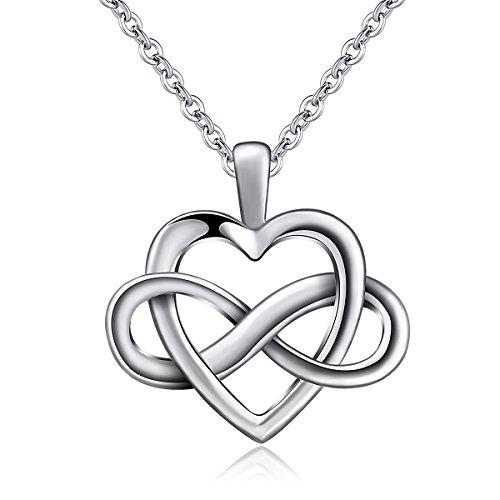 Collana donna cuore pendente con infinito in argento 925