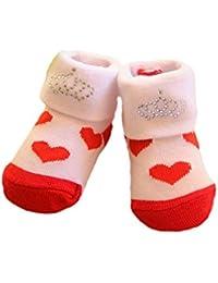 Socken Baby Söckchen Rot Weiß Herzchen Weihnachten 50 56 62 Erstlingssocken NEU
