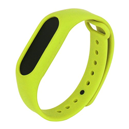 Heartly Wrist Strap Band Belt WristBand Silicone Wearable Case Cover For Xiaomi Mi Band 2 - Yellow Green (Not For Mi Band)  available at amazon for Rs.151