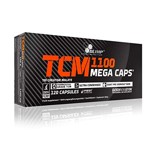 5 x Olimp TCM 1100 Tri-Creatine Malate, 120 Mega Caps (5er Pack) - Creatine-120 Caps