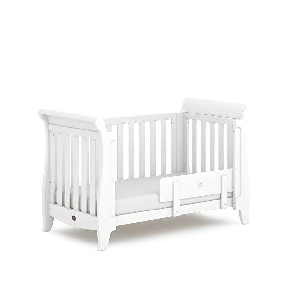 Boori SleighExpandableTM- Barley Boori Converts from cot bed to toddler bed - toddler guard panel sold separately Converts to a full size single bed -L 197cm W 108cm H 110cm-expandableconversion kit included Built from solid australian araucaria 3
