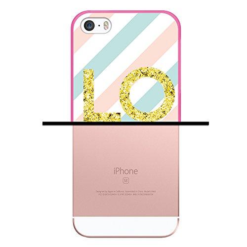 iPhone SE iPhone 5 5S Hülle, WoowCase Handyhülle Silikon für [ iPhone SE iPhone 5 5S ] London Symbole Handytasche Handy Cover Case Schutzhülle Flexible TPU - Transparent Housse Gel iPhone SE iPhone 5 5S Rosa D0434