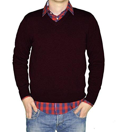 Redmond - Herren Pullover mit V-Ausschnitt in verschiedenen Farben (Art.Nr.: 600) Rot(59)