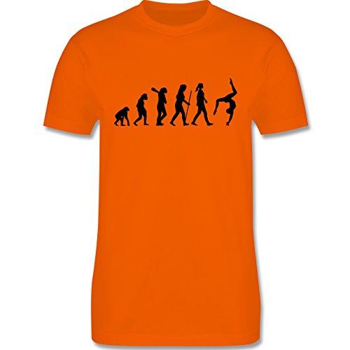 Evolution - Turnen Evolution - Herren Premium T-Shirt Orange