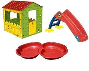 Kreher ensemble de jeux d 39 ext rieur pour enfant avec 1 for Maison jouet exterieur