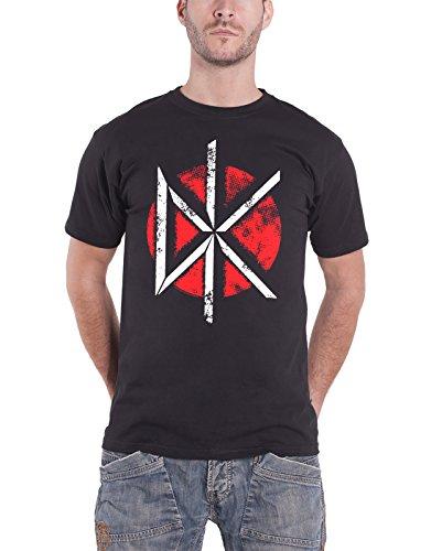 Dead Kennedys T Shirt Vintage Distressed Band Logo offiziell Herren Nue Schwarz (Vintage-t-shirt Distressed)