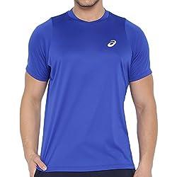 Asics oberbekleidung Club Short Sleeve Top Azul azul Talla:extra-large