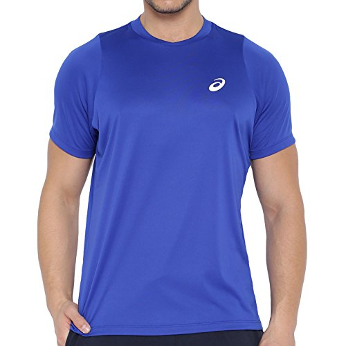 Asics oberbekleidung Club Short Sleeve Top Azul azul Talla:medium