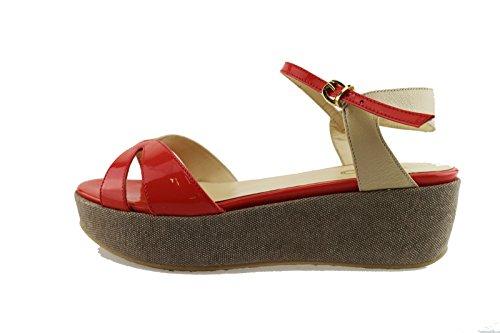 LIU JO 37 EU sandali beige / corallo beige vernice pelle Corallo/beige