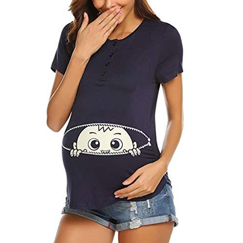 Frauit maglia premaman divertenti manica corta vestiti premaman foto maglietta allattamento vestaglia donna premaman maglie gravidanza t-shirt maternità estate