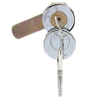 ASTrade Zylinder Cam Schloss und Schlüssel für Werkzeug Box Datei Schrank Schreibtisch Schublade Camlock mit Zwei Schlüssel