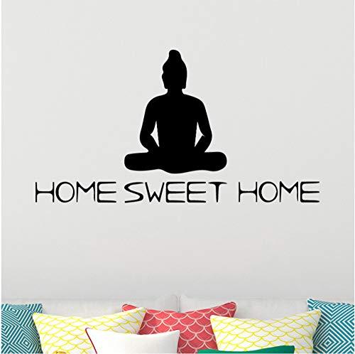 wuyyii 43x80 cm Künstlerische Buddha Wandaufkleber Personalisierte Für Zuhause süße wohnkultur Wandaufkleber Wasserdichte Tapete