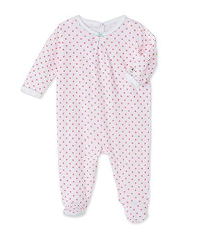 Petit Bateau Baby Girls' Dors Bien_22189 Sleepsuit, Mehrfarbig (ecume/cupcake 24), 0 - 6 Months