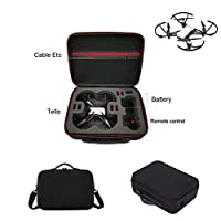 Kismaple Tello Hardshell Travel Carrying Case Storage Bag Handbag, Portable EVA Internal Waterproof Shoulder Bag for DJI Tello Drone, Controller and accessories