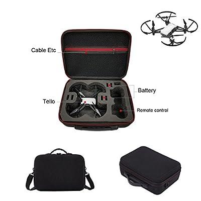 Kismaple Tello Hardshell Travel Carrying Case Storage Bag Handbag, Portable EVA Internal Waterproof Shoulder Bag for DJI Tello Drone, Controller and accessories from Kismaple