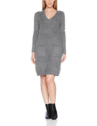 s.Oliver Damen Kleid 14710827151, Grau (Anthracite Melange Knit 98X0), 38