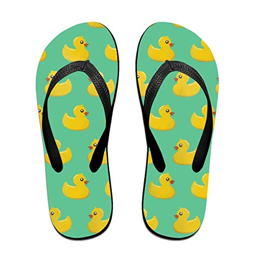 Yellow Duck Unisex Adults Casual Flip-Flops Sandal Pool Party Slippers Bathroom Flats Open Toed Slide Shoes Medium -