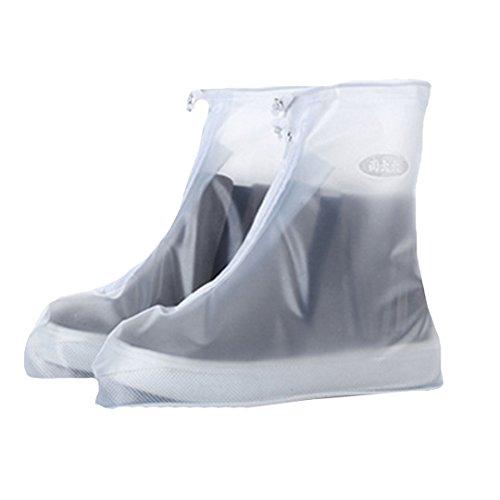 AiSi 1 Paar Unisex Outdoor Wasserdicht Rutschfest Überschuhe Überzieher Schuhüberzieher Shoe Cover Hülle Überziehschuhe Schuhüberzug, XXXL Transparent