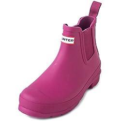 Hunter WFS1043RMA - Botas de Agua de Caucho Mujer, Color Rosa, Talla 38 M