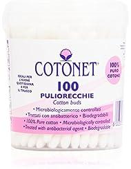 CotonetPaquet de 100 coton-tiges, bâtons avec coton 100% pur