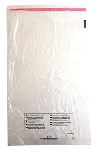 FBA-Zulassung Selbstklebende Poly-Beutel Durchsichtig Kunststoffbeutel, extra groß, hergestellt in UK mit Warnung vor Erstickungsgefahr in 10 Sprachen, ideale Lagerverpackung für Versand durch Amazon