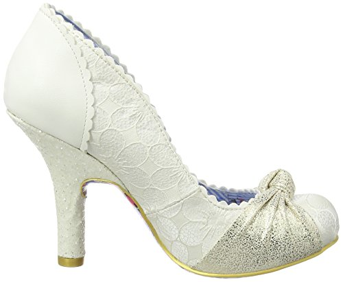 Irregular Choice Smartie Pants, Escarpins femme Blanc Cassé - Off White (Cream)