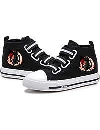 Tjhhkjuo SCP Foundation Zapatos Zapatos de la Zapatilla Ligera Velcro Calzado Deportivo Zapatos de Lona Zapatos de Ocio Zapatos Planos niños y niñas