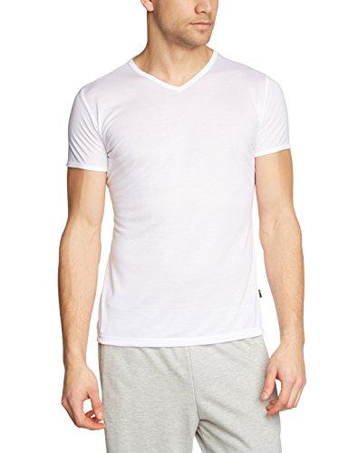 Trigema Herren T-Shirt V-Shirt, Einfarbig, Gr. X-Large, Weiß (weiss 001)