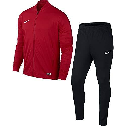 - Color: Rojo/negro/blanco- Parte superior: 100% poliéster- Ajuste: Slim Fit- Nombre / Número de artículo: Nike Academy 16 Poly Tracksuit/808757-657- Tecnología Dri Fit - proporciona ventilación para su cuerpo y también absorbe la humedad- Parte su...