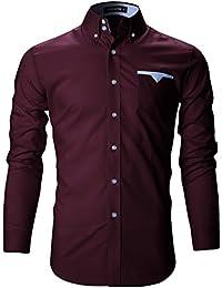 FLATSEVEN Mens Premium Slim Fit Casual Shirts