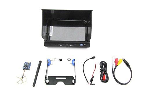 XciteRC 15001122 – FPV-Set für RC Quadrocopter Rocket 400 GPS mit 7 Zoll-Monitor, 5.8 GHz