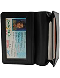 Executive Cow Leather Business Card Case Holder Black Bi-Fold Wallet With Gift Box (53-21) By Juzar Tapal Collection