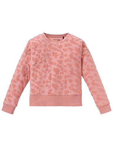 Schiesser Mädchen Schlafanzugoberteil Mix & Relax Shirt 1/1, Rot (Rosenholz 527), 140 (Herstellergröße: XS)