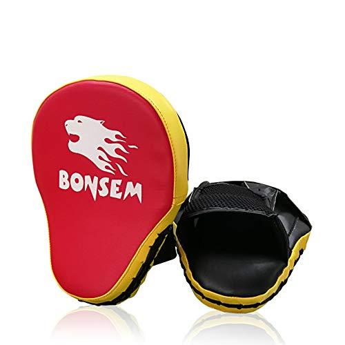 GBFR 1PC Negro, Rojo, de 5 cm de Espesor sacador de los Mitones Objetivo de Enfoque Boxeo Kickboxing...