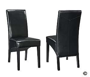 2 chaises cheyenne noir facon bycast haute qualite