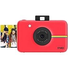 Polaroid Cámara digital instantánea Snap (roja) con la tecnología de impresión ZINK Zero Ink
