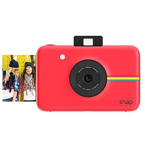 Polaroid Snap Instant Digital Camera (Red) wih ZINK Zero Ink Printing Technology