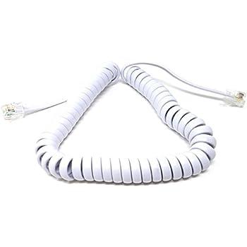 M-Core-Kabel, langes, weißes Spiralkabel: Amazon.de: Elektronik