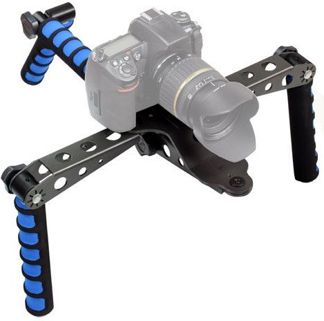 IVATION Pro Steady DSLR Rig System with Shoulder Mount For Video Stabilization For DV Cameras/Camcorders - Compact & Travel