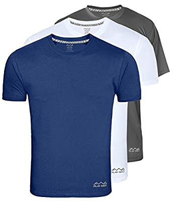 BEING U Men's Dryfit Polyester Round Neck Half Sleeve T-shirts - Pack of 3