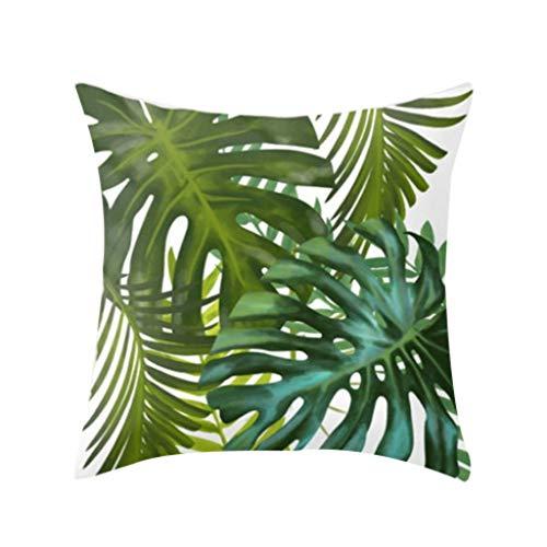 Winkey  Kissenbezüge, Tropische Pflanzen Polyester Kissenbezug Sofa Wurfauflage Set Dekoration -