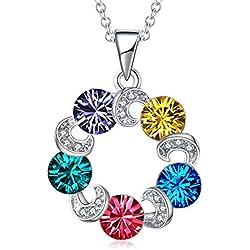 TOJEAN 'Cristal de Amor' Joyería Collar con Elementos de Swarovski Cristal, Joyas para Mujer, Collares Mujer, Joyeria Mujer, Regalos Mujer
